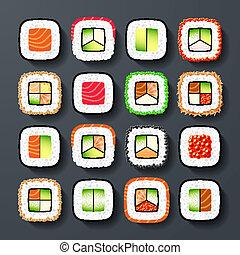 sushi, types