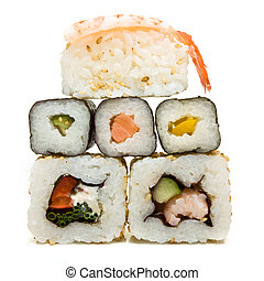 Sushi Wall - Vibrant sushi wall abstract from low ...