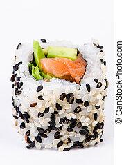 Sushi with avocado