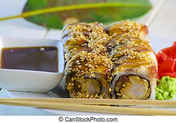 sushi with eel