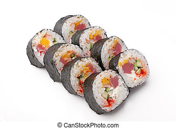 Sushi with fish