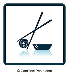 Sushi with sticks icon