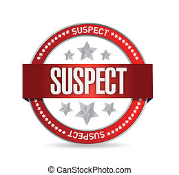 suspect, conception, illustration, cachet