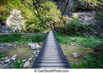 Suspended bridge in Cheile Turzii