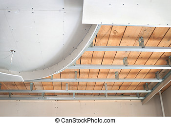 Suspended ceiling, consisting of plasterboard - Suspended...