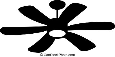 Suspended ceiling fan