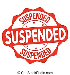 Suspended sign or stamp
