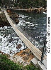 suspensión, mar, puentes