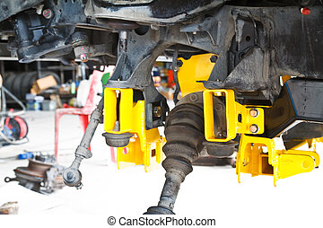 suspension assembly of an off-road vehicle