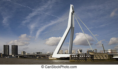 Suspension bridge 13 - Erasmus Bridge, Rotterdam, Holland