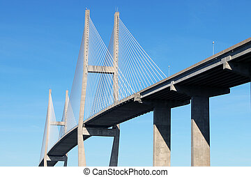 Modern Sidney Lanier bridge in Brunswick, GA