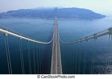 Suspension bridge connect with Kobe and Awaji