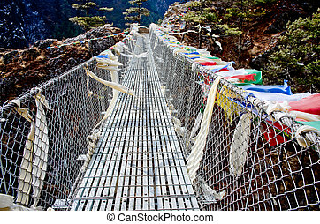 Suspension bridge in Nepal