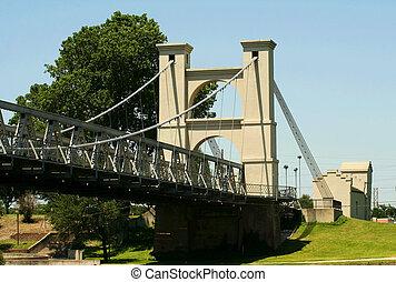 Suspension Bridge In Waco 2 - suspension bridge cross brazos...