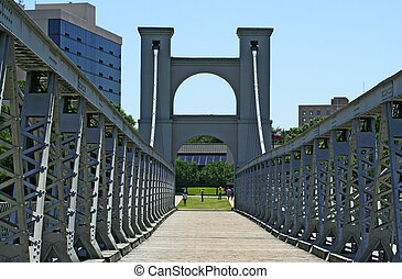 Suspension Bridge In Waco - suspension bridge that cross...