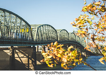 Suspension Bridge on Clear Afternoon