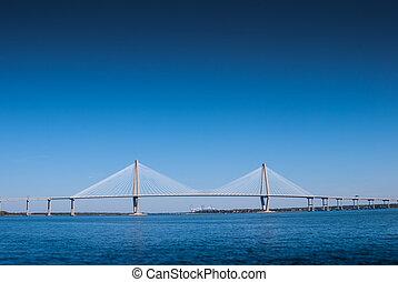 Suspension Bridge Over Bay