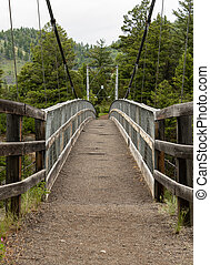 Suspension Bridge Over Yellowstone River