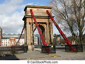 Suspension bridge, River Clyde, Glasgow