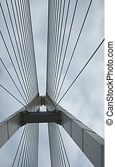 Suspension bridge support - Support of an automobile...