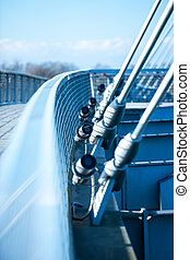 suspension, moderne, pont