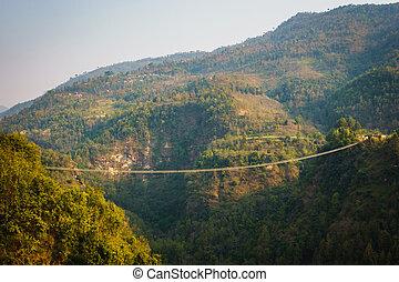 suspension, népal, pont