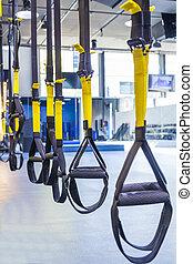 Suspension training - Suspention training straps in fitness...