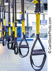 Suspension training - Suspention training straps in fitness...