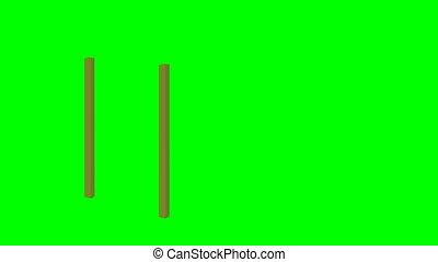 Suspension wooden bridge cartoon animation