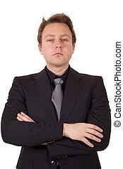 Suspicious businessman - An arrogant business man with his...