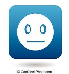 Suspicious emoticon icon, simple style