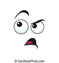 Suspicious emoticon isolated insidious emoji face