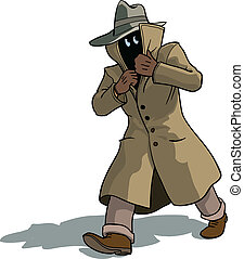 Suspicious man - Man in cottoncoat fleeing and appering ...