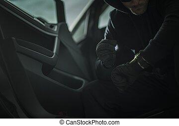 Suspicious Men in a Car