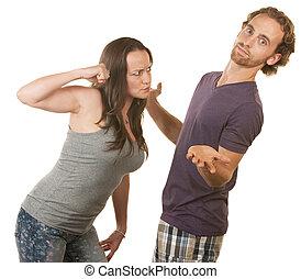 Suspicious Woman Threatens Boyfriend - Suspicious woman...