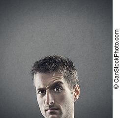 Suspiciousness - Facial expression: doubt and...