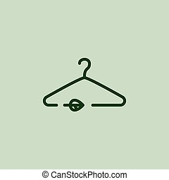 Susrainable fashion logo. Hanger. Eco friendly Vector illustration