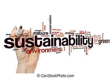 sustainability, 概念, 単語, 雲