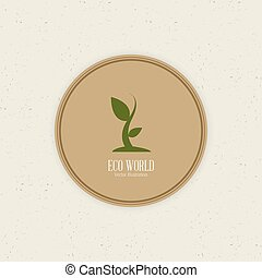 abstract sustainability label on a white background