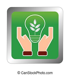 Sustainability - abstract sustainability symbol on a white ...