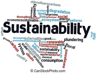 Sustainability - Abstract word cloud for Sustainability with...