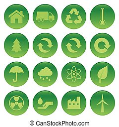 Sustainability - Abstract set of sustainability objects on a...