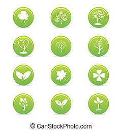 sustainability icons - abstract sustainability icons on a...