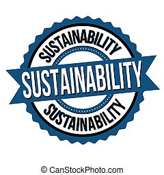 Sustainability label or sticker