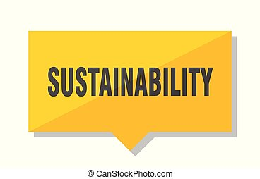 sustainability price tag - sustainability yellow square...