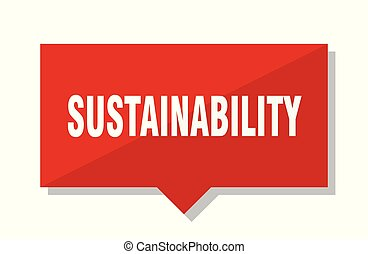 sustainability red tag