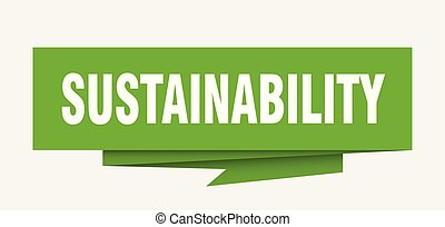 sustainability sign. sustainability paper origami speech ...
