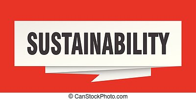 sustainability sign. sustainability paper origami speech...