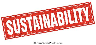 sustainability square stamp