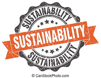 sustainability stamp. sign. seal